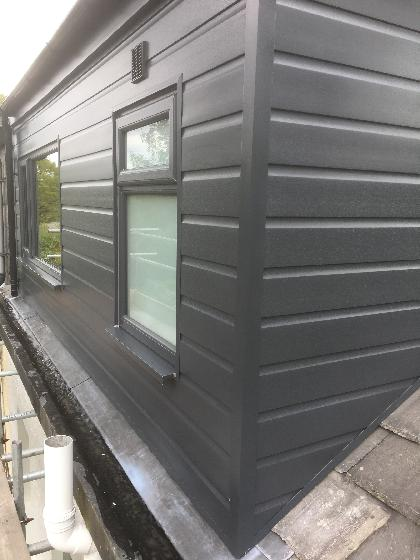 Rear Dormer in Modern Grey uPVC